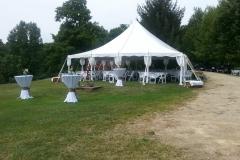 30x30 pole tent wedding