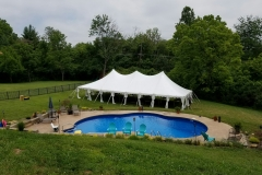 30x60 hp pole tent with drapes