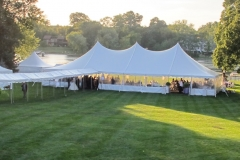 wedding tent with long entry tent