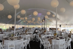 z paper lanterns floor length linens