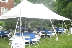 20x30 pole tent graduation party