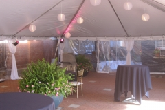 bell tent with lanterns