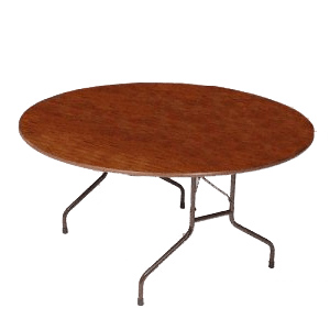 Rent this five foot round table for your next dinner party.
